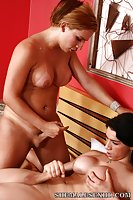 Gorgeous shemales having anal sex
