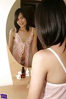 Asian ladyboy posing in lingerie