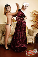 Kamila Smith Plays With A Sissy In Countess Dress