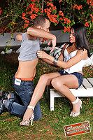 Yasmin Rios Moreninha turns her guy into a sissy