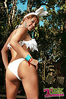 Shemale Bunny Posing Cock Outdoor