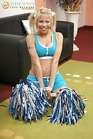 Blonde Cheerleader Gives Head