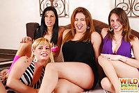 Four sluts show booties & then fuck
