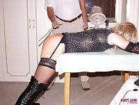 Kim getting spanked