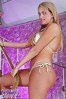 Blond Shemale With Tan Lines Posing