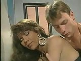 Yummy vintage tranny is happy with an anal stuffing