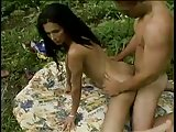 Sweet Love shemale and guy in the forest