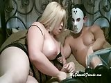 Busty Monica Ray fucked by masked chap