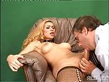 Tranny with erect cock riding