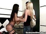 Tranny Threesome Bareback Ass Nailing