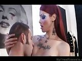 Redhead vamp TS gets mad anal screwing