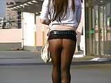 Japanese Crossdresser Pantyhose Public Exhibitionism Upskirt