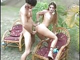 Outdoor fun with a slim tranny girl
