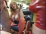 Threesome act with a crossdresser