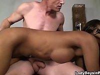 Sexy Ladyboy Gets Nailed Hard