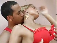 Super TS Babe Analed By Ebony Lover