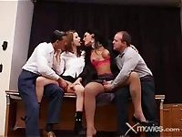 Filthy Tranny In Amazing Group Banging