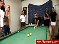TS gangbang on pool table