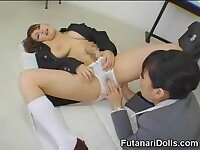 Sucking a Futanari Coed