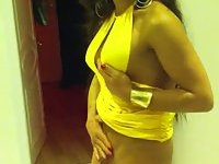 big cock tranny in yellow dress