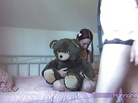 Shy girl sucks tranny cock
