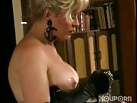 Blonde mistress dominated guy