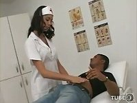 Hot and horny nurse shemale banged