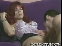 Fucking in turn with a skilful redhead tranny