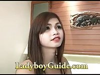 Pleasant sucking from a cute ladyboy