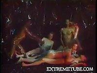 Vintage oiled orgy