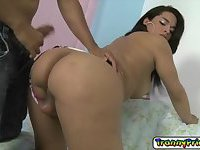 Hot tranny Bruna having sex