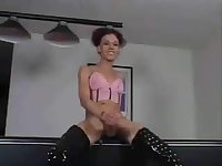 Young all natural Mia strokes &cums