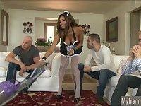 Big tits TS maid Jessy Dubai double anal