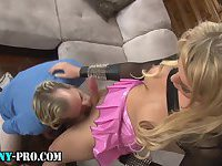 Hot blonde shemale fucks ass