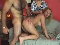 Fucking in turn at threesome