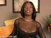 Pretty chocolate tranny is at your service