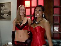 Jessy Dubai and Roxy Rox hot riding