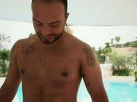 Thays Schiavinato & Renata Araujo gets fucked outdoor at threesome