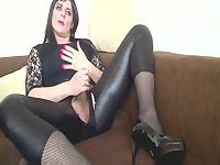 Fetish Crossdresser Masturbation and cum