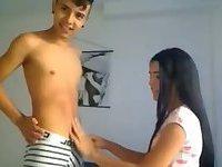 Teen lovers webcam fun