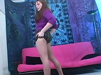 Lustful TS chick solo