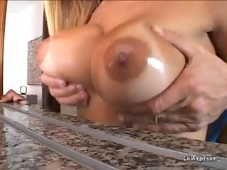 Sweet erect dick for a busty Tgirl