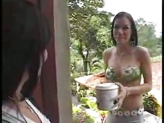 Candy Vagina Pleasured By A Tranny Cock