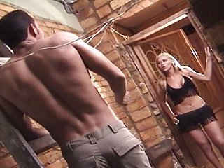 Bareback fucking with blonde hottie