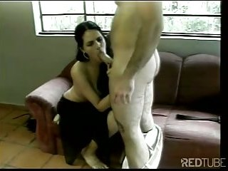 Sex hungry tranny banged by hunk