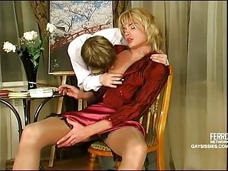 Sexy crossdresser hot slamming