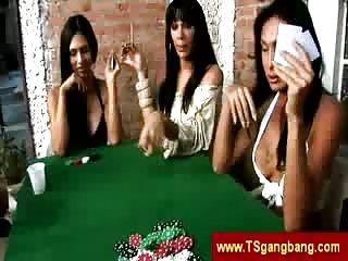 Latina shemales like poker