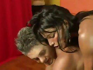 Latina horny tranny gets cock suck & fuck