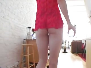 Skinny tranny loves ass toying