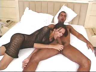 Horny big cocked TS banged in her ass